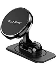 Magnetic Phone Car Mount,FLOVEME 360° Rotate [3.5-7.9 inch] Magnetic Cell Phone Holder for Car Dashboard Phone Magnet Car Mount for iPhone X XR Xs Max 8 7 6 Samsung Note 10 9 S10 S9 Plus Mini Tablets