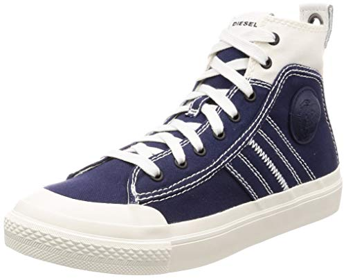 - Diesel Men's S-ASTICO LACE-Sneaker mid, Star White/Peacoat Blue, 8 M US
