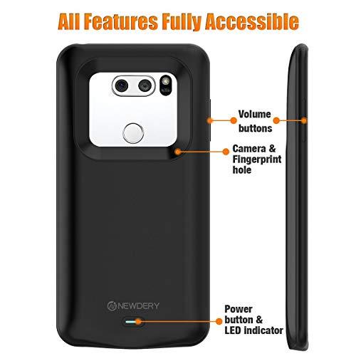 big sale d4e24 36c1c LG V30 Battery Charger Case, Newdery 4200mAh Slim Portable Power ...