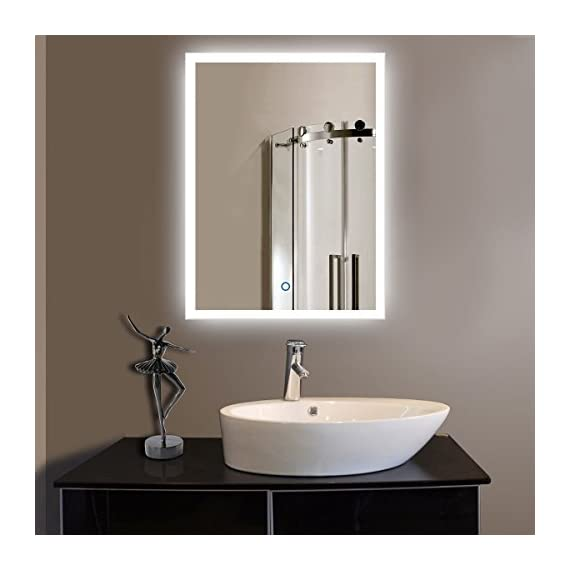 Shellkingdom Led Backlit Mirror With Border Led Wall Mounted