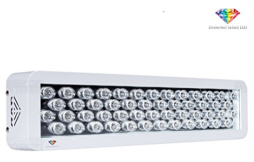 American Fluorescent Et Series (Advanced LED Lights - LED Grow Light Full Spectrum for Indoor Plants Vegs and Flowers - Diamond Series LEDs 100w With USA Made Bridgelux Blue and White 3w LEDs)