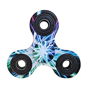 Balai Tri-Spinner Fidget Hand Spinner Camouflage Multi-Color, EDC Focus Toys For Kids & Adults (A)