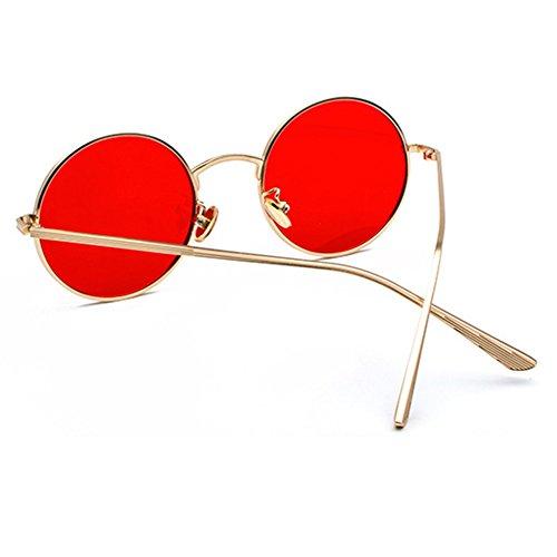 Highdas de Lunettes Style de Lunettes soleil Rétro soleil Vintage C3 Adulte rondes SAwAxag