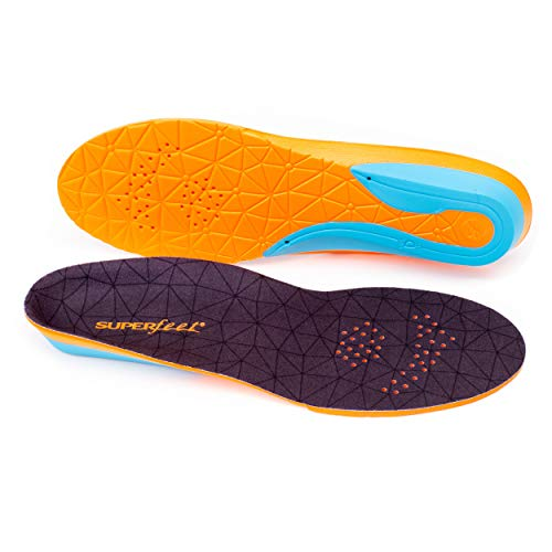 Superfeet FLEX, Comfort Insoles for Athletic Shoe Cushion and Support, Unisex, Flame, X-Small/B: 4.5-6 Wmns/2.5-4 Juniors