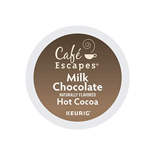 Cafe Escapes, Milk Chocolate Hot Cocoa, Single-Serve Keurig K-Cup Pods, 72 Count (3 Boxes of 24 Pods) (Best K Cup Hot Chocolate)