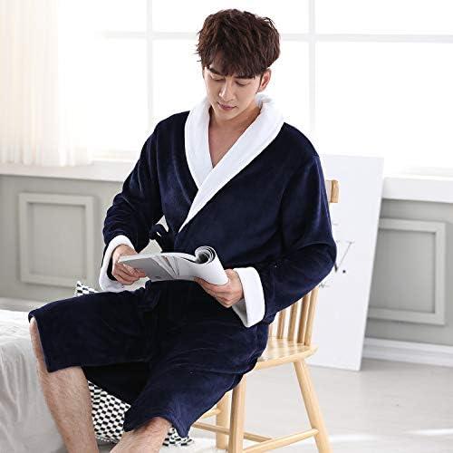 パジャマ CHJMJP ナイトウェアバスローブガウンパジャマ暖かい冬の男性のローブホーム服寝間着パジャマ大型 (Color : Shorts 3, Size : L)