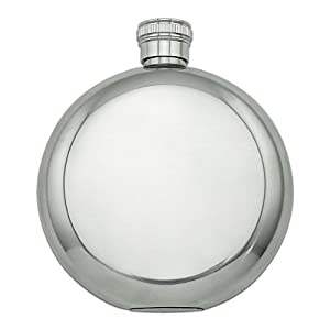 Peppermint Swirl Round Stainless Steel 5oz Hip Drink Flask
