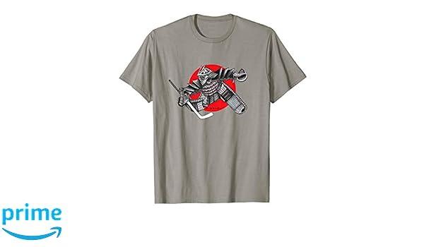 c96475d5 Amazon.com: Hockey Samurai Warrior Martial Arts Goalie t-shirt: Clothing