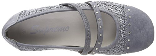 Supremo Women's 4823005 Closed Toe Ballet Flats Blue (Blue) k904IoO3OK