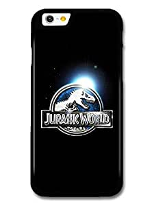 Jurassic World in Universe Blue Logo Black Background case for iPhone 6 A10807 by mcsharks