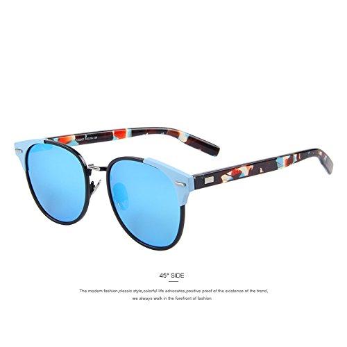 C03 de hombres gafas Classic mujer la gafas TIANLIANG04 Azul Unisex polarizadas C03 Blue de sol de Remache de sol qw58ngZI