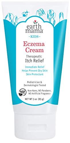 Earth Mama Earth Mama Kids Eczema Cream | Immediate Therapeutic Itch Relief – Steroid, Fragrance & Artificial Preservative-Free, 3-Ounce Tube