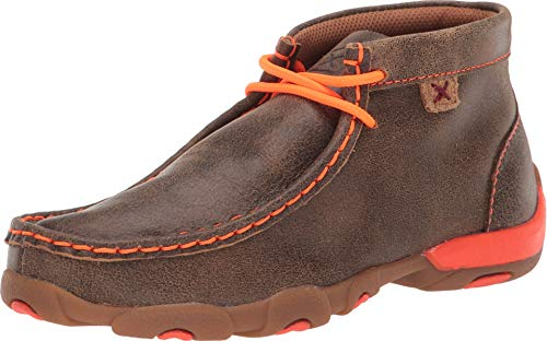 Twisted X Boots Children's YDM0006,Bomber/Neon Orange Leather,US 5.5 M