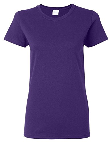 Gildan Women's Heavy Crewneck Cap Sleeve T-Shirt, Medium, -