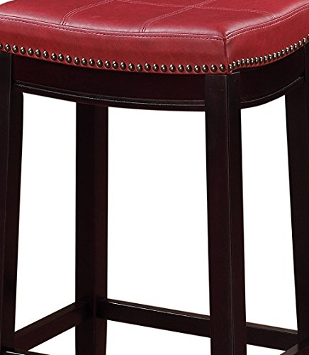 Linon Claridge Counter Stool Red Homegoodsreview