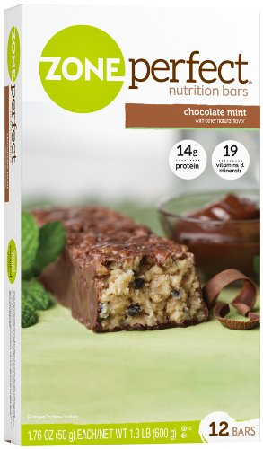 Zone Perfect All Natural Nutrition Bar, Chocolate Mint, 1.76-Ounce Bars in 12-Count Boxes (Pack of 2)