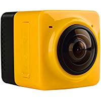 360 Degree DV Sports Camera Mini Wireless Waterproof Panoramic HD 12801024 28fps Wifi Camcorder Wide Angle Fisheye Lens- Cube Yellow