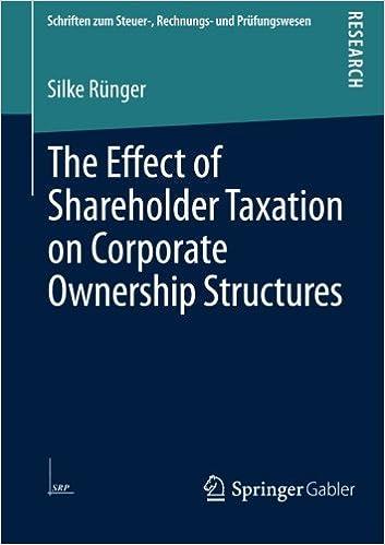 Last ned bøker pdf gratis online The Effect of Shareholder Taxation on Corporate Ownership Structures (Schriften zum Steuer-, Rechnungs- und Prüfungswesen) in Norwegian 3658041307