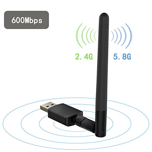 Techkey-600Mbps-USB-Wifi-AdapterDual-Band-24G150Mbps5G433Mbps-Wireless-Network-Adapter-Wifi-Antenna-for-DesktopPCLaptop-Supports-Windows-108187XPVista