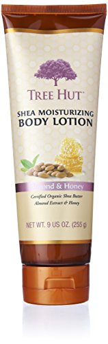 Tree Hut Shea Moisturizing Body Lotion, Almond and Honey, 9 Ounce (Pack of
