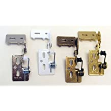 "Youngdale 1/4"" Overlay Self Closing Knife Hinge For 5/8\"" Minimum Thickness Door White - includes 2 hinges"