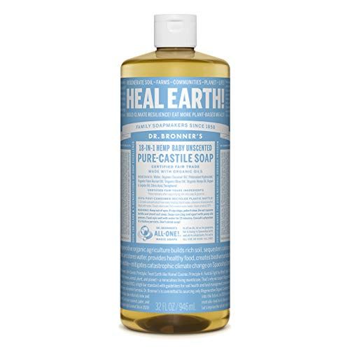 Dr. Bronner's - Pure-Castile Liquid Soap (Baby Unscented, 32...