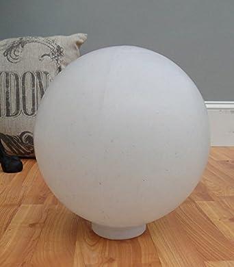 Big white plastic ball outdoor shade light fixture round 10 dia 4 big white plastic ball outdoor shade light fixture round 10quot dia mozeypictures Gallery