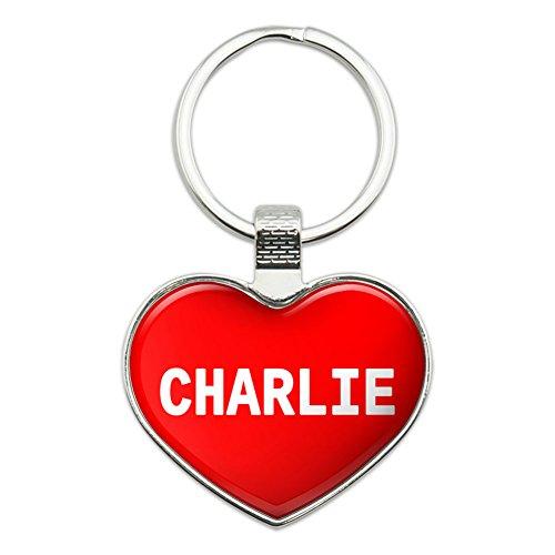 Metal Keychain Key Chain Ring I Love Heart Name C-D - (Name Key Ring Keychain)