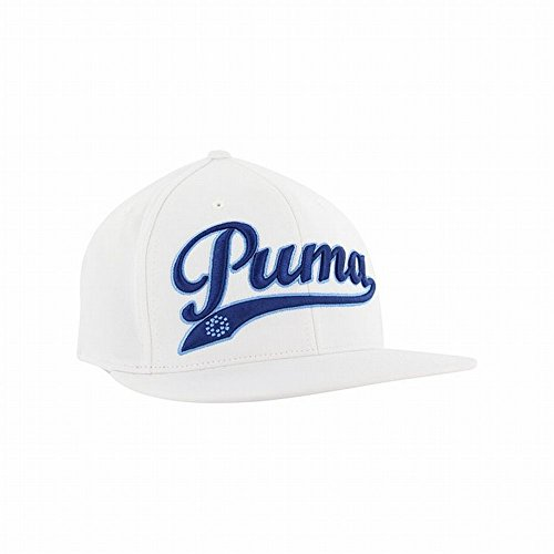 Puma SCRIPT COOL CELL SNAPBACK CAP Mens Headwear-White/Blue-One Size Fits All