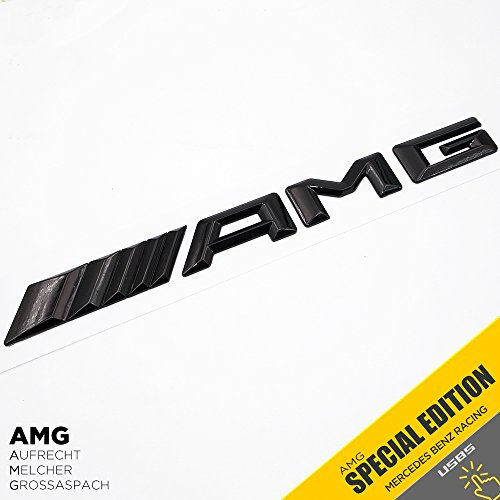 (New Style Mercedes-Benz AMG Emblem 3D ABS Black Trunk Logo Badge Decoration Gift (Gloss Black))