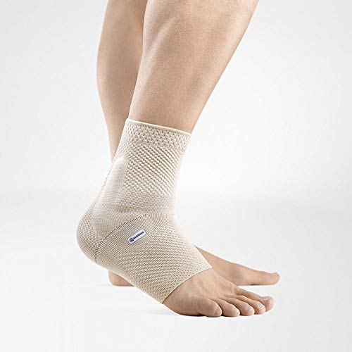 Bauerfeind - MalleoTrain - Ankle Support Brace - Helps Stabilize The Ankle Muscles and Joints for Injury Healing and Pain Relief - Right Foot - Size 4 - Color Nature