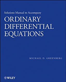 Ordinary differential equations michael d greenberg 9781118230022 solutions manual to accompany ordinary differential equations fandeluxe Image collections