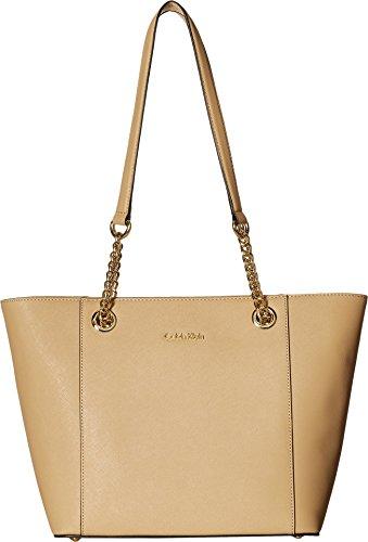 Calvin Klein Hayden Saffiano Leather East/West Tote, -