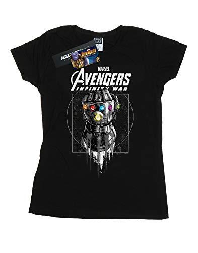 camiseta Women Gauntlet negro Infinity War Marvel Avengers wfdFqXOO