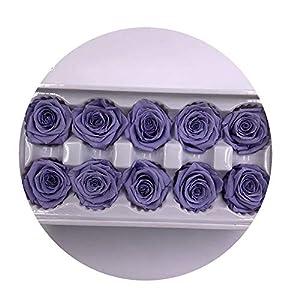 Sevem-D 10 Heads Flowers Preserved Flowers Flower Immortal Rose 4Cm Diameter Eternal Life Flower,5,Diameter 4Cm 41