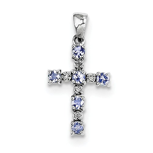 925 Sterling Silver Blue Tanzanite Diamond Pendant Charm Necklace Gemstone Fine Jewelry Gifts For Women For Her