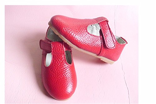 Price comparison product image 14-22Cm Spring Autumn Girls Princess Shoes Leather Shoes for Girls Solid Kids Leather Shoes Red 9