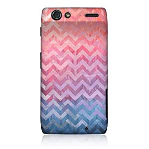 Quaroth - Head Case Pink Watercolour Chevron Back Case Cover For Motorola DROID RAZR XT910