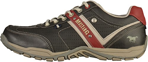 Sneakers rot Basses schwarz 310 Noir Mustang 95 4027 95 Homme CqMTt