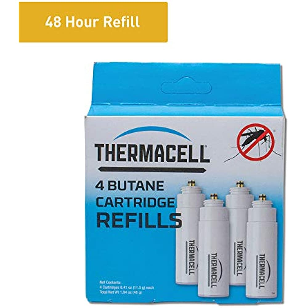 Thermacell 48 Hr Mosquito Area Repellent 12 Mats /& 4 Fuel Cartridges In Each Box