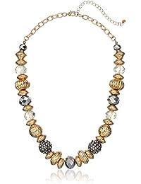 "Fashion Mixed Bead Short Statement Strand Necklace, 18"" + 3"""
