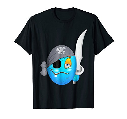 n New T Shirt Tee Funny (Smiley Pirate)
