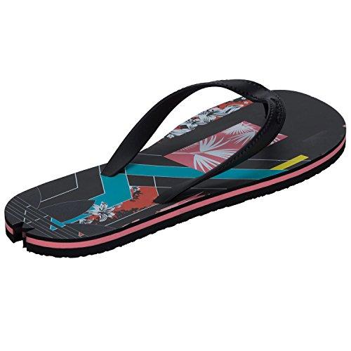 adidas Adisun W, Zapatillas de Deporte para Mujer Negro / Azul / Rojo (Negbas / Negbas / Rosmel)