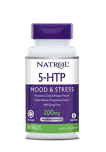 Natrol 5-HTP Time Release Tablets, 200mg, 30 Count, (Packaging may vary)
