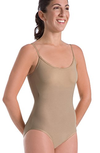 Body Wrappers Girl's MicroTECH Camisole leotard (Nude, 8/10) - MT110