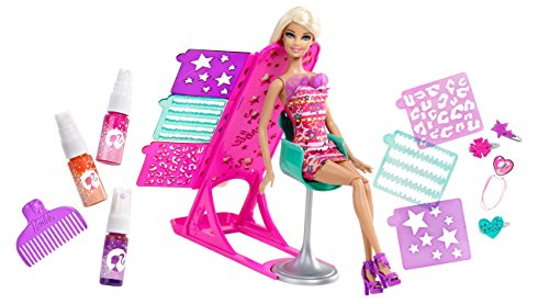 Barbie hairtastic color and design salon barbie doll buy for Salon de coiffure barbie