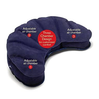Mobile Meditator Inflatable Meditation Cushion and Travel Pillow - Purple