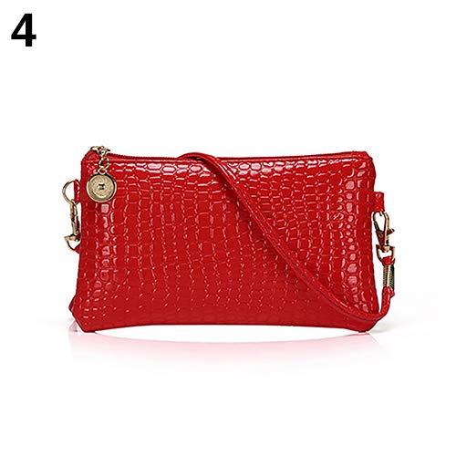 Women Faux Leather Zipper Clutch Mini Cross Body Shoulder Bag Phone Bag by Shengyuze (Image #2)