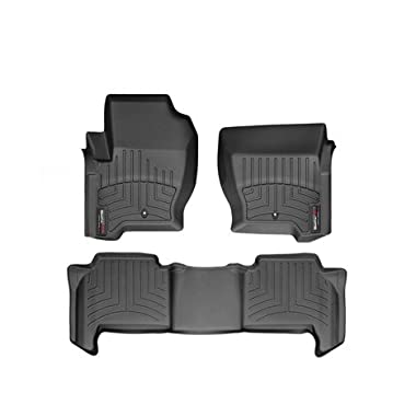 2009-2013 Land Rover Range Rover Sport Black WeatherTech Floor Liners (Full Set) [With Driver and Passenger-Side Floor Hooks]