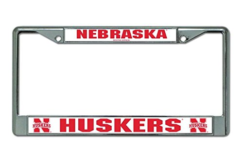 Huskers Chrome License Plate Frame (Nicholas Dunlop Nebraska Huskers Chrome License Plate Frame)